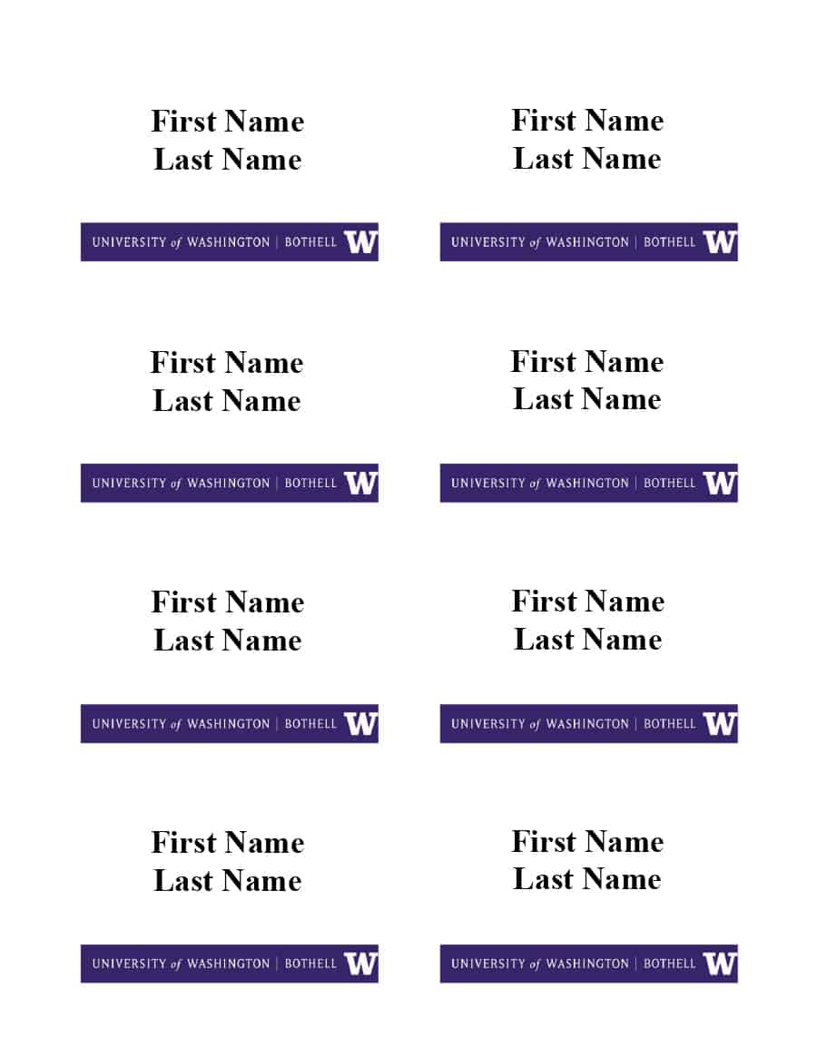 47 Free Name Tag + Badge Templates ᐅ Template Lab Throughout Visitor Badge Template Word