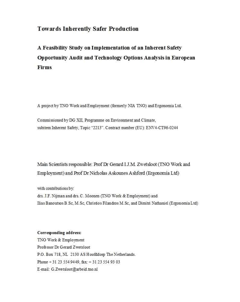 48 Feasibility Study Examples & Templates (100% Free) ᐅ Inside Technical Feasibility Report Template
