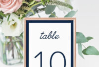 4X6 Navy Wedding Table Number Cards Templates Instant Download, Bridal  Shower, Editable Navy Table Numbers Place Cards Templates – Idb012K throughout Table Number Cards Template