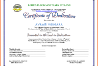 5+ Dedication Certificate Template | Iwsp5 with Baby Dedication Certificate Template
