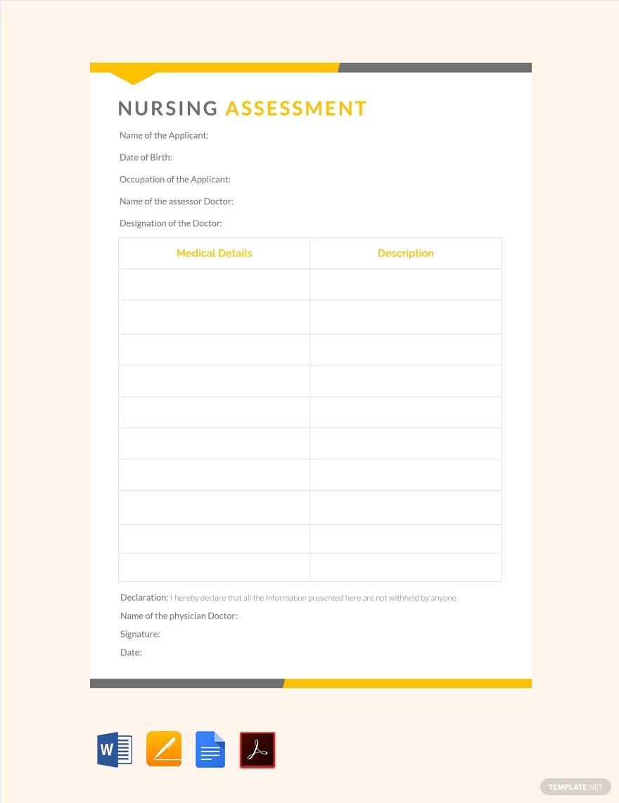 5+ Nursing Care Plan Templates In Word, Pdf, Apple Pages Inside Nursing Care Plan Template Word