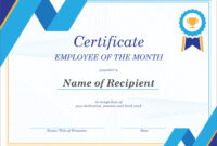 50 Creative Blank Certificate Templates In Psd Photoshop intended for Manager Of The Month Certificate Template