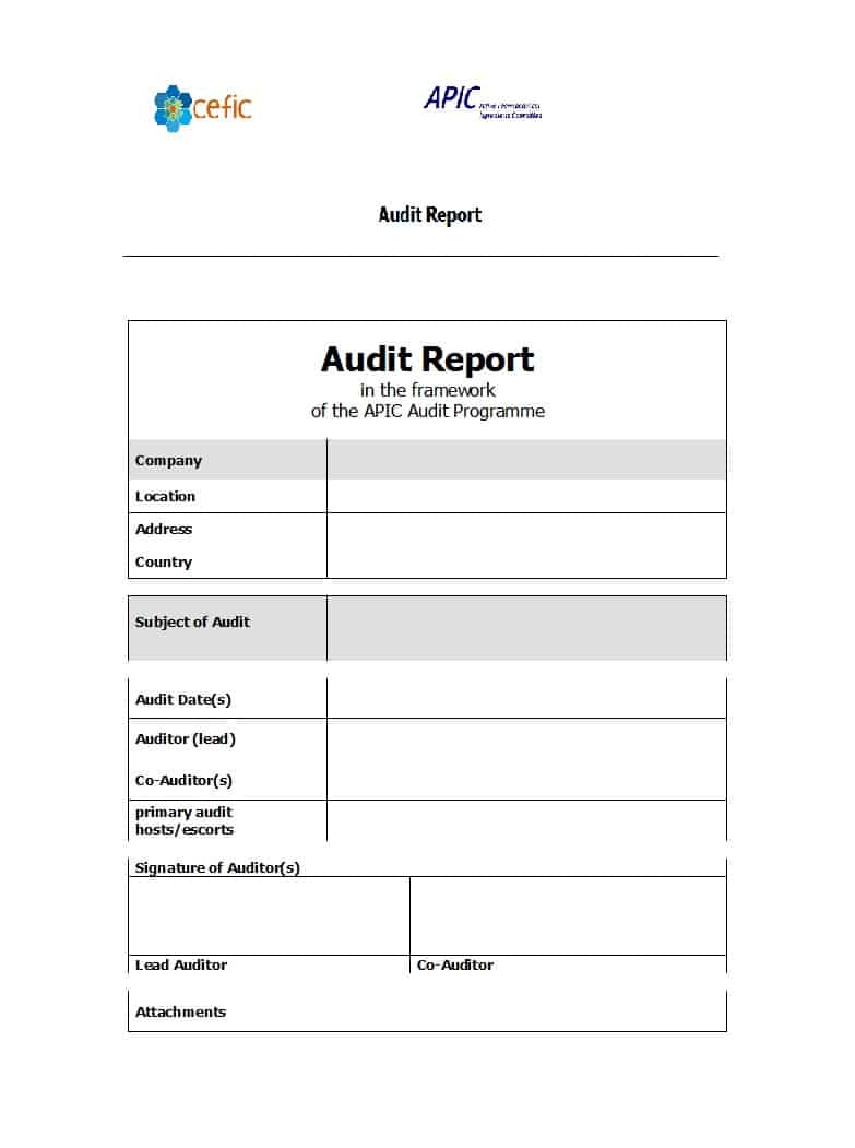 50 Free Audit Report Templates (Internal Audit Reports) ᐅ In Audit Findings Report Template