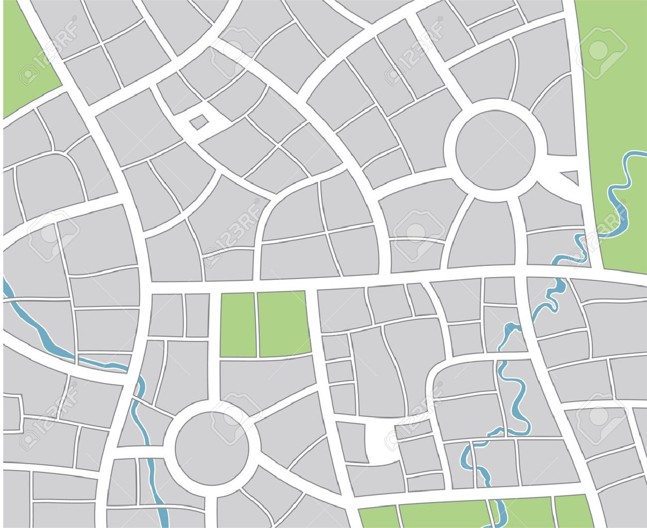 51 Thorough Blank Street Map Template Throughout Blank City Map Template