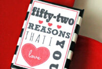 52 Reasons I Love You Printable (A Pinteresting Wednesday inside 52 Reasons Why I Love You Cards Templates