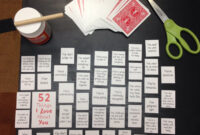 """52 Things I Love About You"""" Make A Table On Microsoft Word pertaining to 52 Things I Love About You Deck Of Cards Template"""