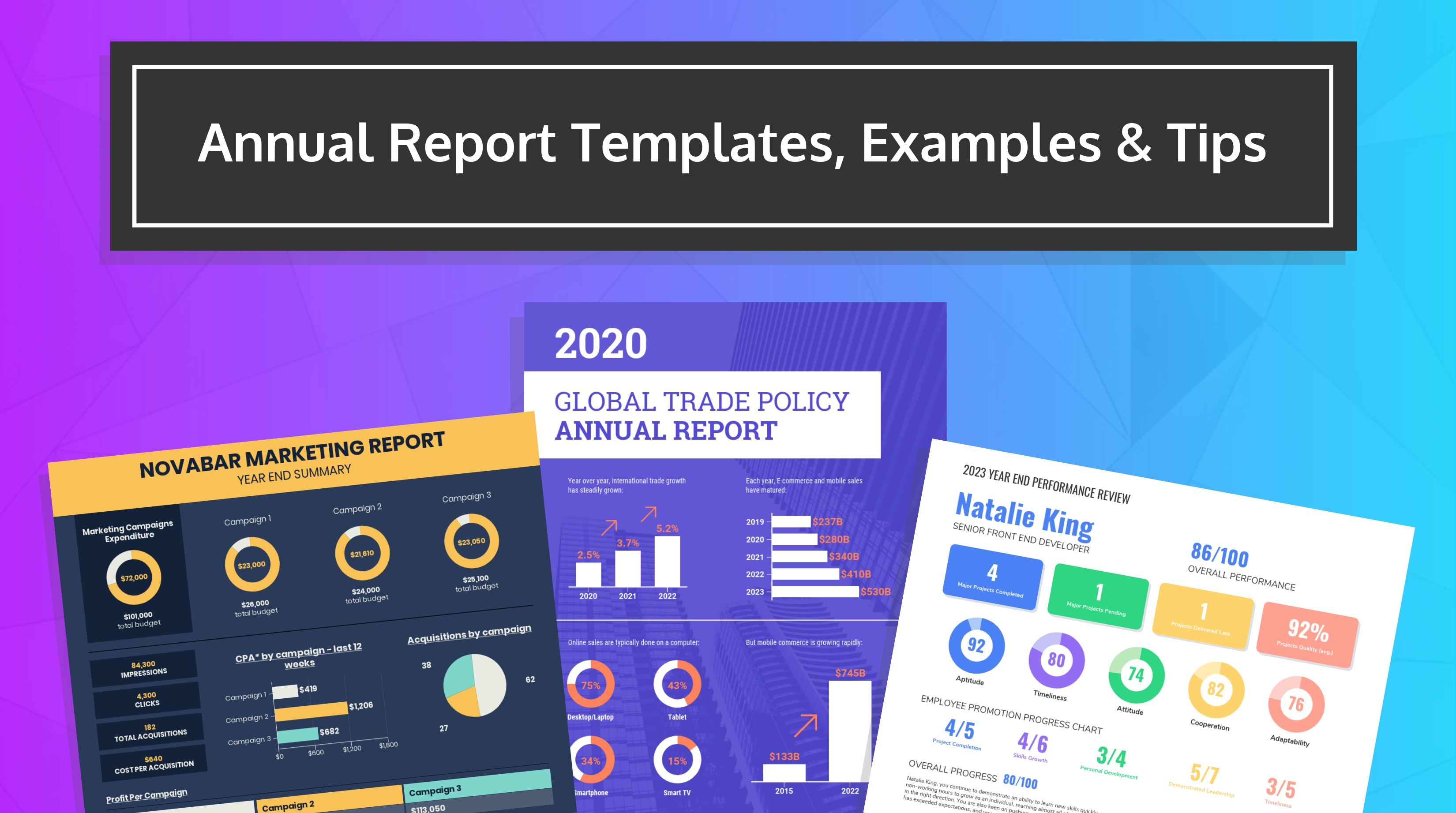 55+ Customizable Annual Report Design Templates, Examples & Tips Within Annual Budget Report Template
