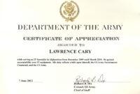 6+ Army Appreciation Certificate Templates - Pdf, Docx with regard to Army Certificate Of Appreciation Template