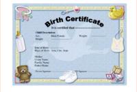 6+ Birth Certificate Templates – Bookletemplate inside Birth Certificate Templates For Word