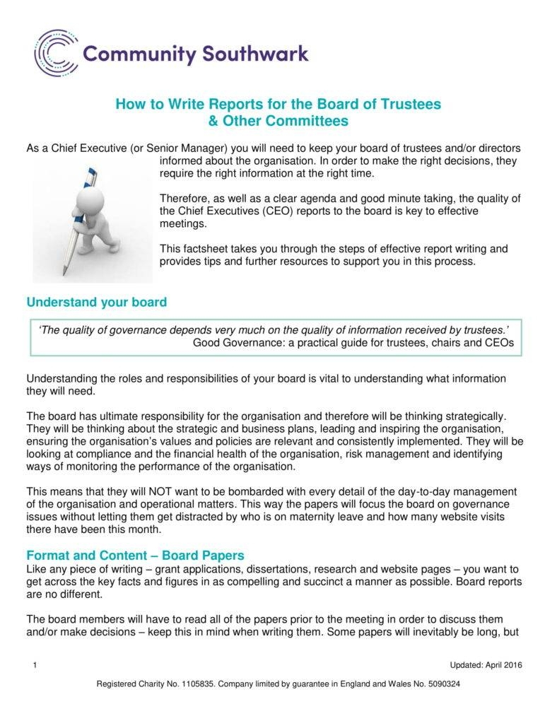 6+ Ceo Report Templates - Pdf | Free & Premium Templates Intended For Report To Senior Management Template
