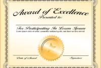 6+ Certificate Award Template – Bookletemplate regarding Template For Certificate Of Award