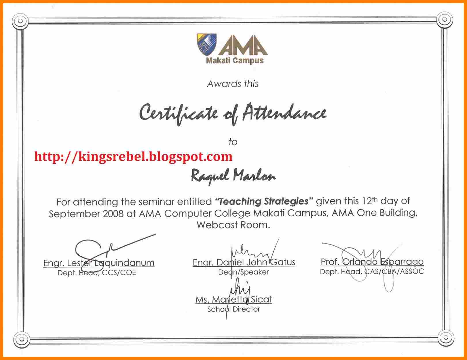 6+ Certificate Of Appearance Template   Weekly Template Intended For Certificate Of Appearance Template