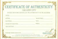 6+ Certificate Of Authenticity Templates | Weekly Template with Workstation Authentication Certificate Template