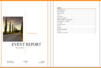 6+ Event Reporting Template | Business Opportunity Program inside After Event Report Template