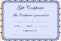 6+ Free Gift Certificate Templates For Word 2007 | Quick Askips pertaining to Free Certificate Templates For Word 2007