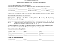 6+ Hotel Credit Card Authorization Form | Authorization intended for Hotel Credit Card Authorization Form Template