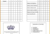 7+ Homeschool Report Card Template | Card Authorization 2017 inside Blank Report Card Template