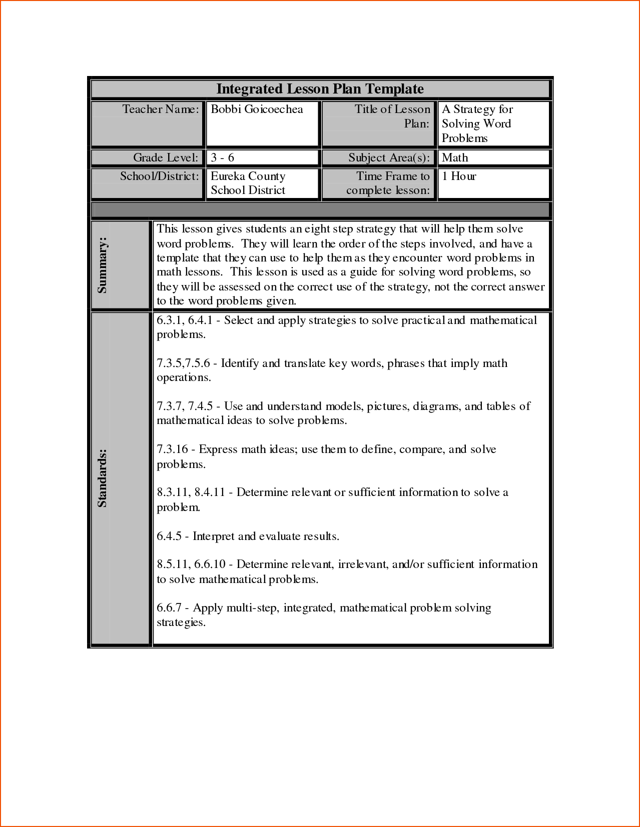7+ Lesson Plan Template Word – Bookletemplate Within Work Plan Template Word