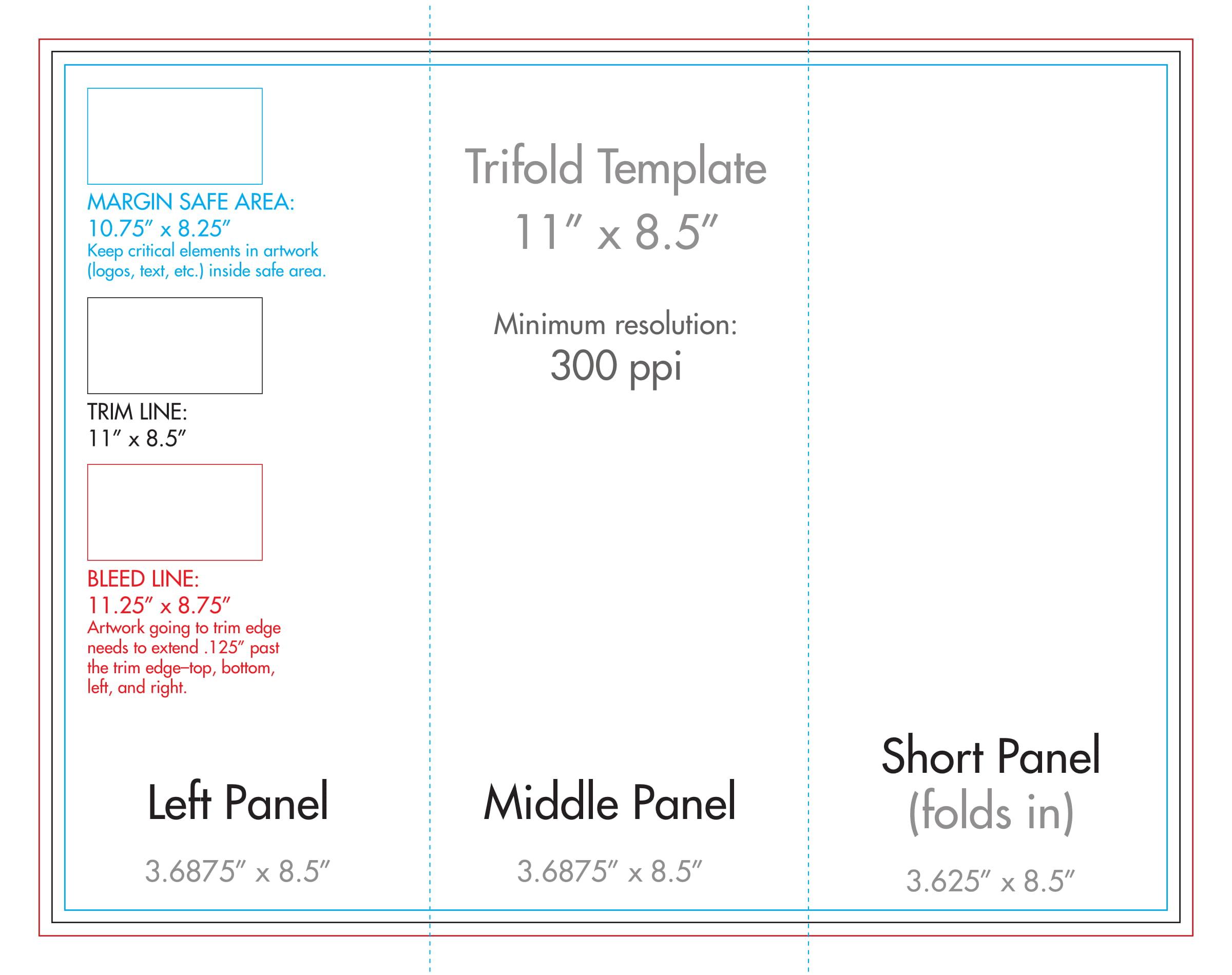 "8.5"" X 11"" Tri Fold Brochure Template - U.s. Press Inside 8.5 X11 Brochure Template"