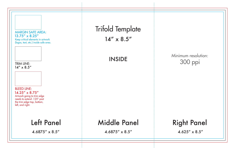 "8.5"" X 14"" Tri Fold Brochure Template - U.s. Press With Brochure Folding Templates"