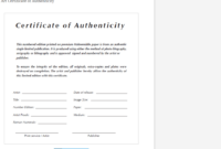 8 Certificate Of Authenticity Templates – Free Samples intended for Photography Certificate Of Authenticity Template