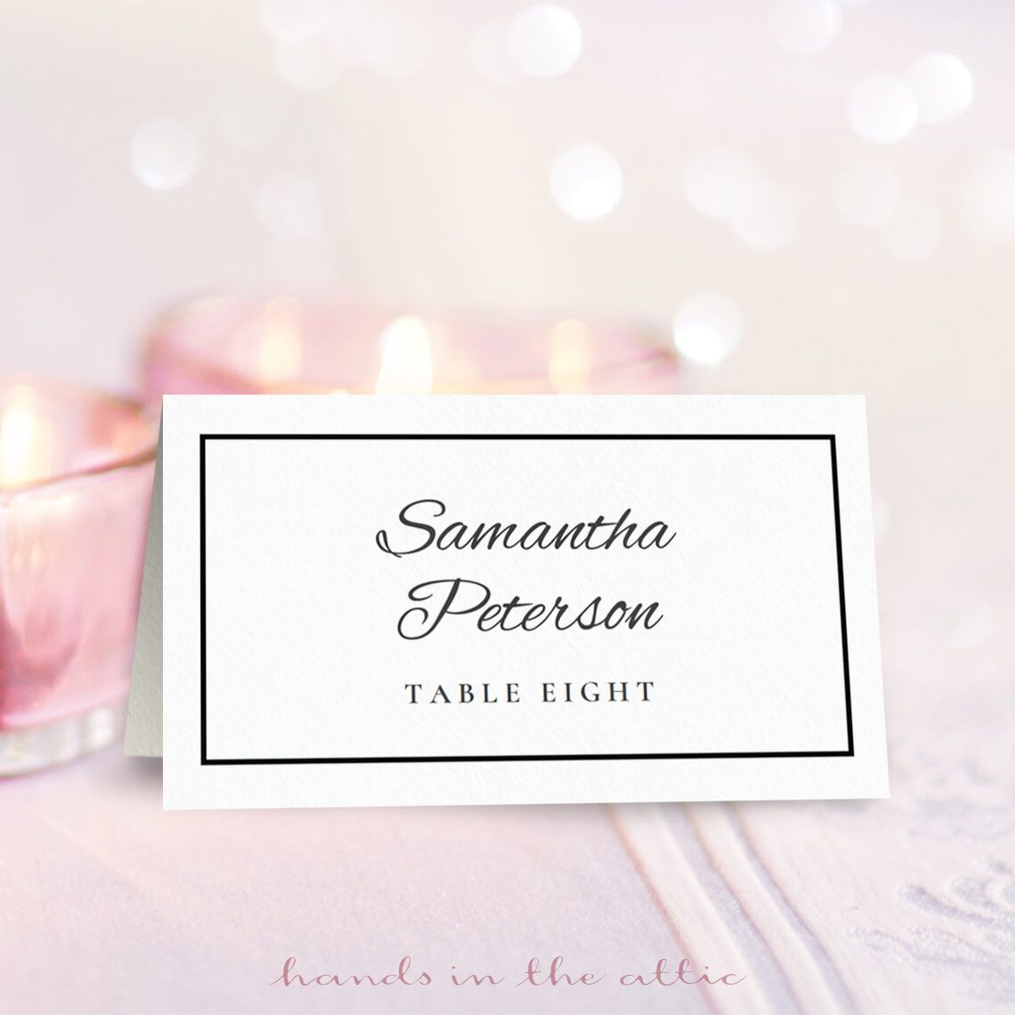 8 Free Wedding Place Card Templates With Wedding Place Card Template Free Word