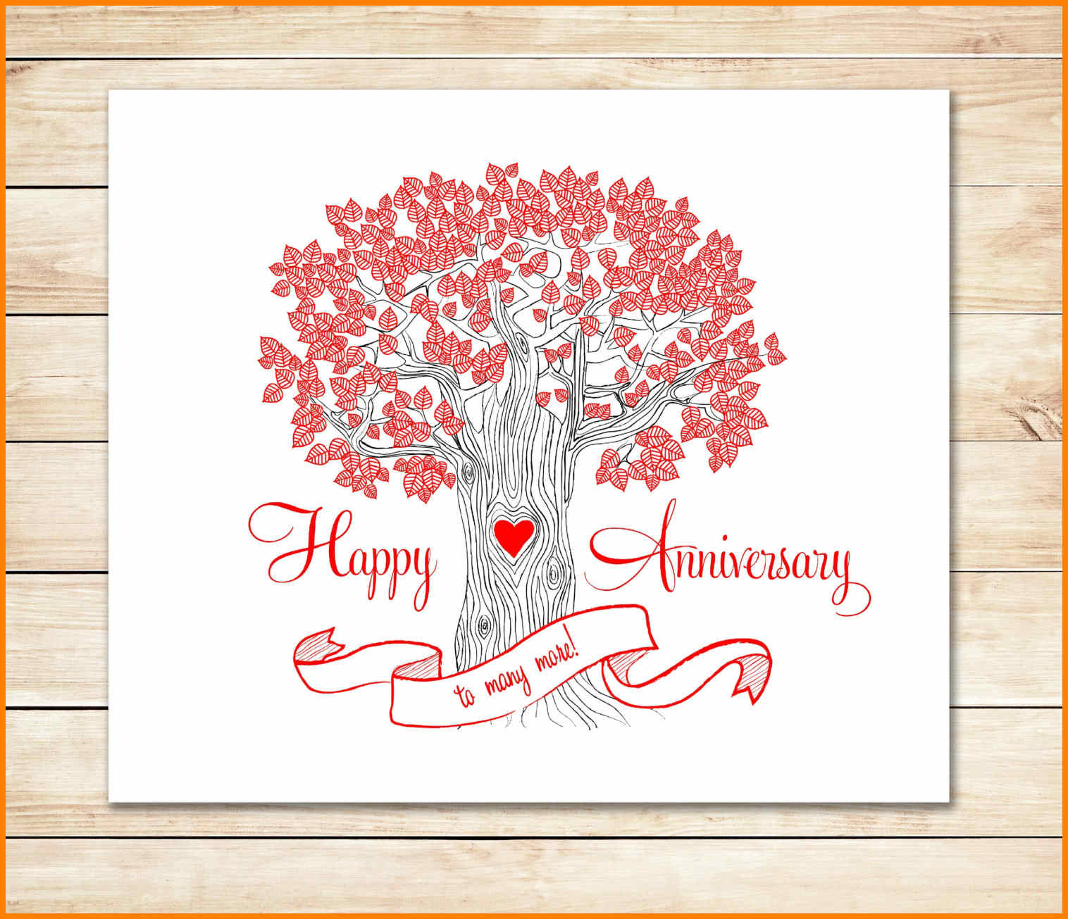 8+ Happy Anniversary Templates Free   Plastic Mouldings In Anniversary Card Template Word