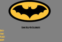 9 Awesome Batman Birthday Invitations | Kittybabylove with regard to Batman Birthday Card Template