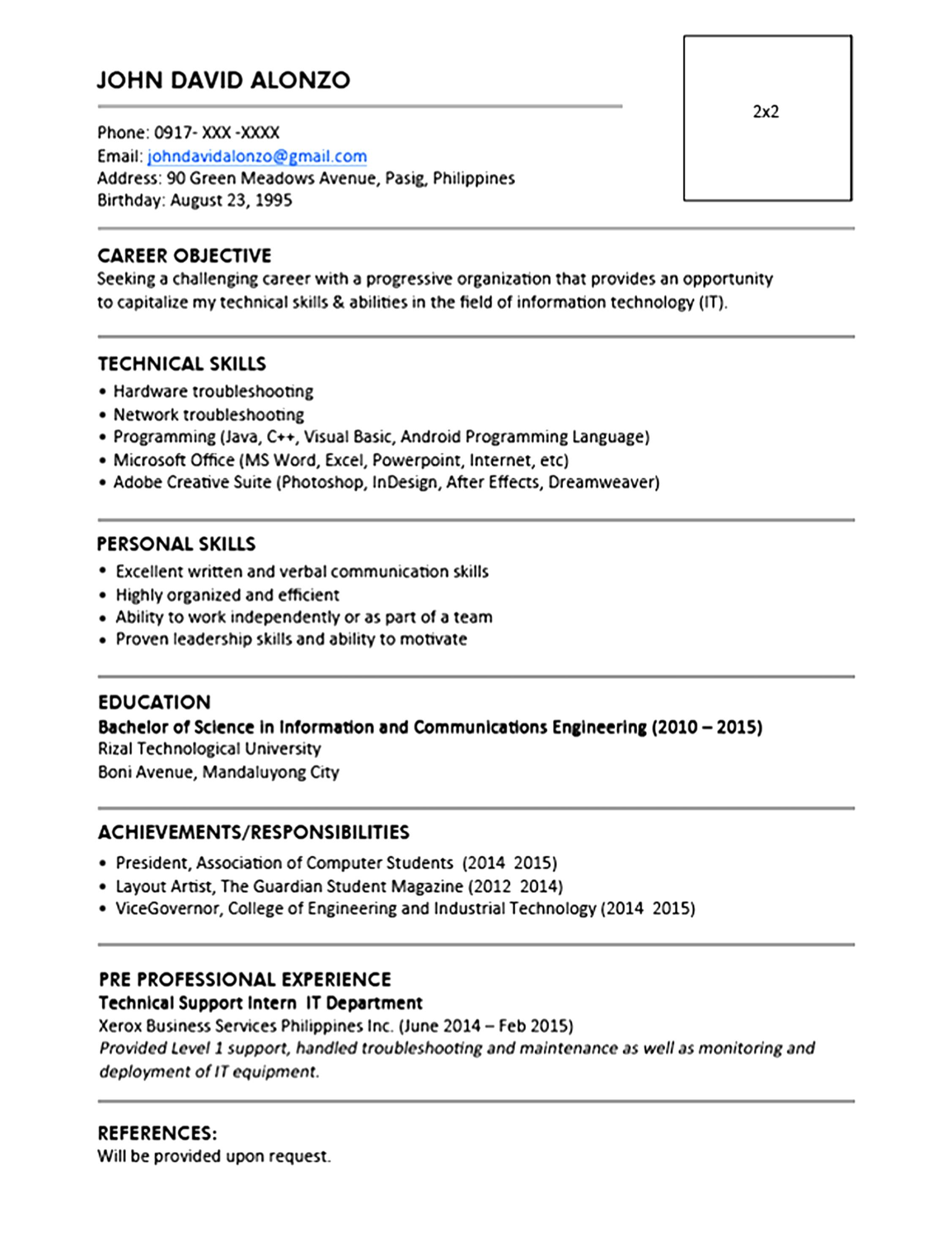 9 Cv Templates Word 2010 Uaopt Templatesz234 (Resume With Regard To Resume Templates Word 2010
