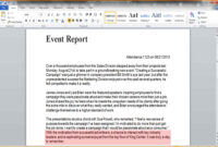 9+ Event Report Template Word | Business Opportunity Program inside Report Template Word 2013