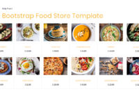 95+ Free Bootstrap Themes Expected To Get In The Top In 2019 in Blank Food Web Template