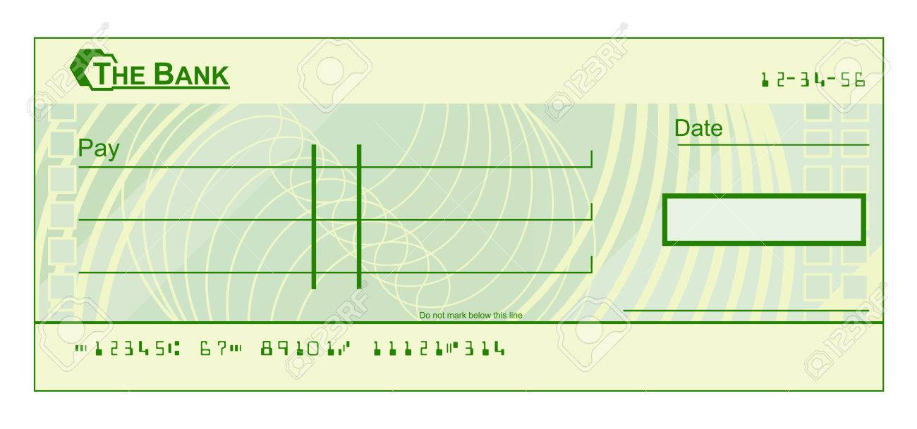 A Blank Cheque Check Template Illustration Throughout Blank Cheque Template Download Free