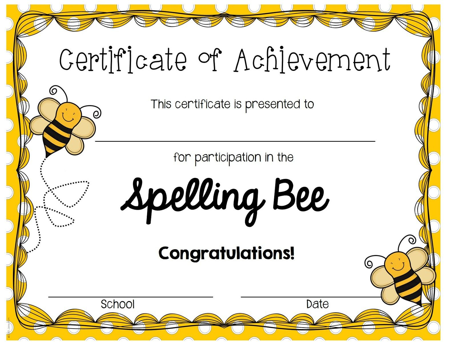 A Blog About Education, Children, Teaching, And My Journey For Spelling Bee Award Certificate Template
