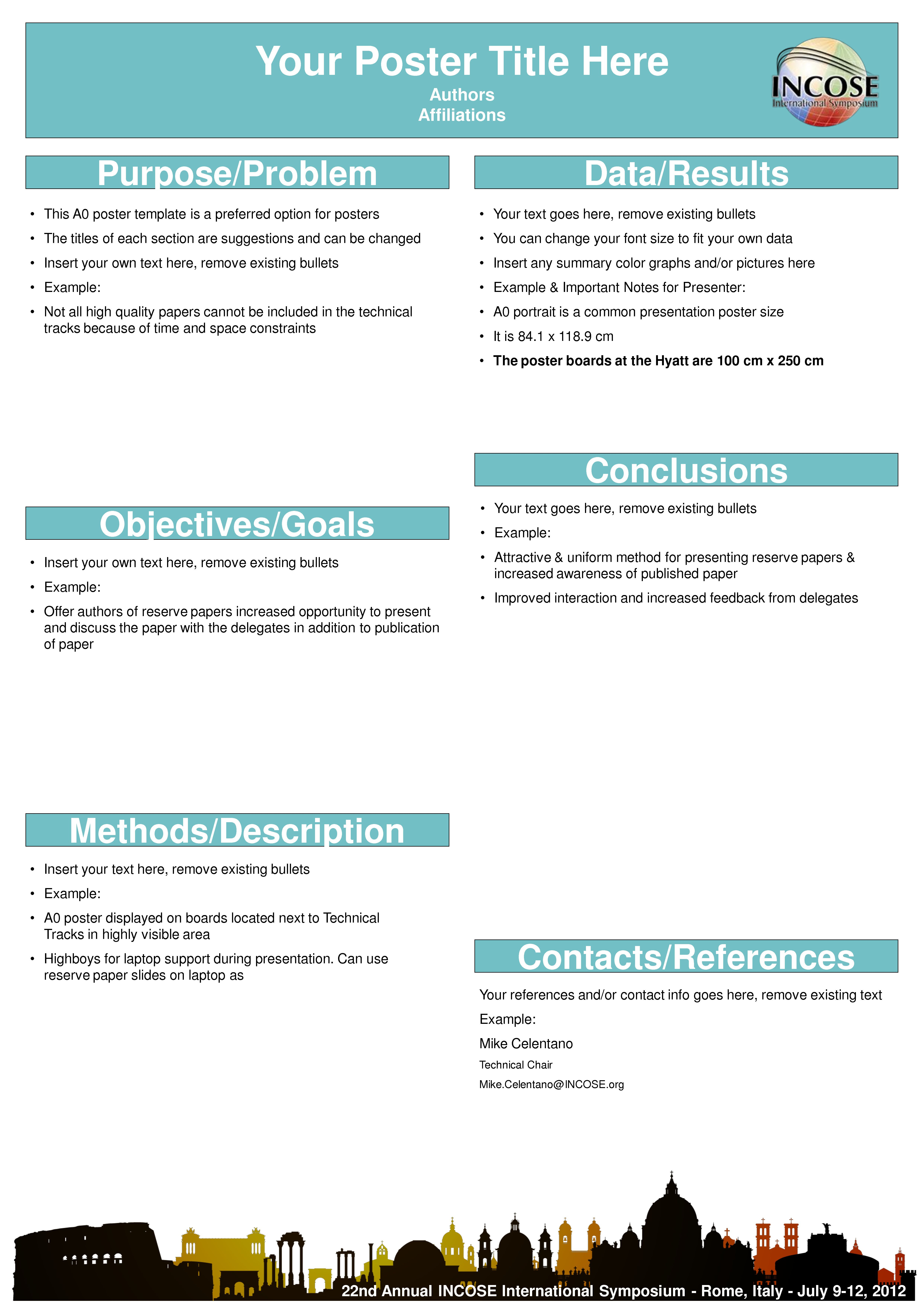 A0 Poster Templates Unique Scientific Poster Template Free Throughout Powerpoint Poster Template A0