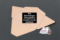 A2 Envelope Template for A2 Card Template