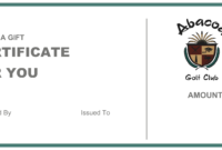 Abacoa Golf Club Gift Certificate throughout Golf Gift Certificate Template