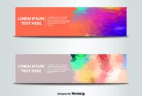 Abstract Banner Templates Vector | Free Vector Download In within Website Banner Templates Free Download