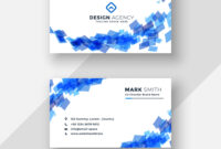 Abstract Blue Creative Business Card Template within Advertising Card Template