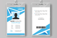 Abstract Blue Id Card Design Template intended for Template For Id Card Free Download
