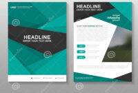 Abstract Green Vector Leaflet Brochure Flyer Business inside Free Business Proposal Template Ms Word