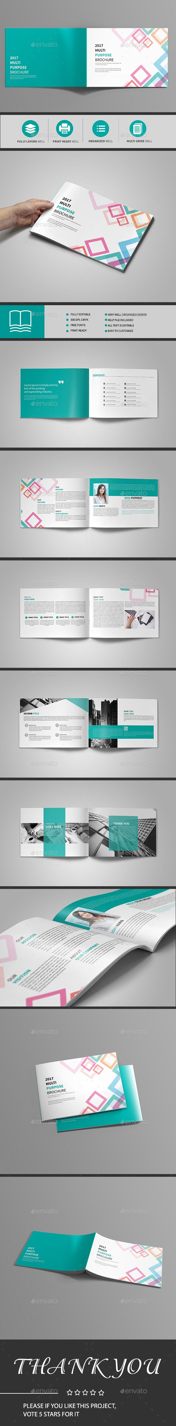 Abstract Landscape Brochure 12 Page — Indesign Template Within 12 Page Brochure Template