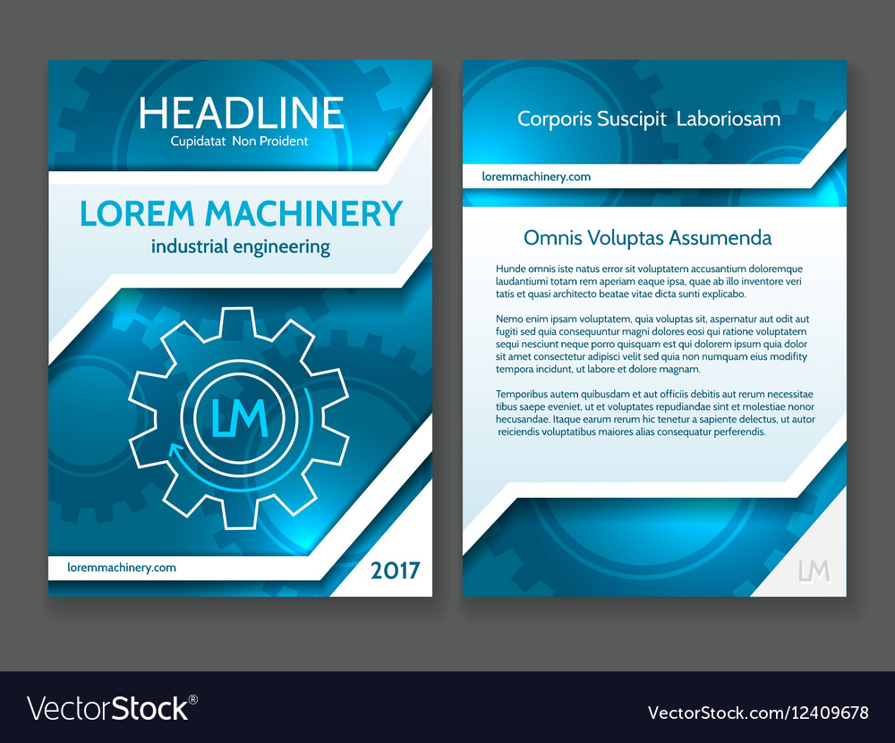 Abstract Technology Brochure Template Modern Intended For Technical Brochure Template