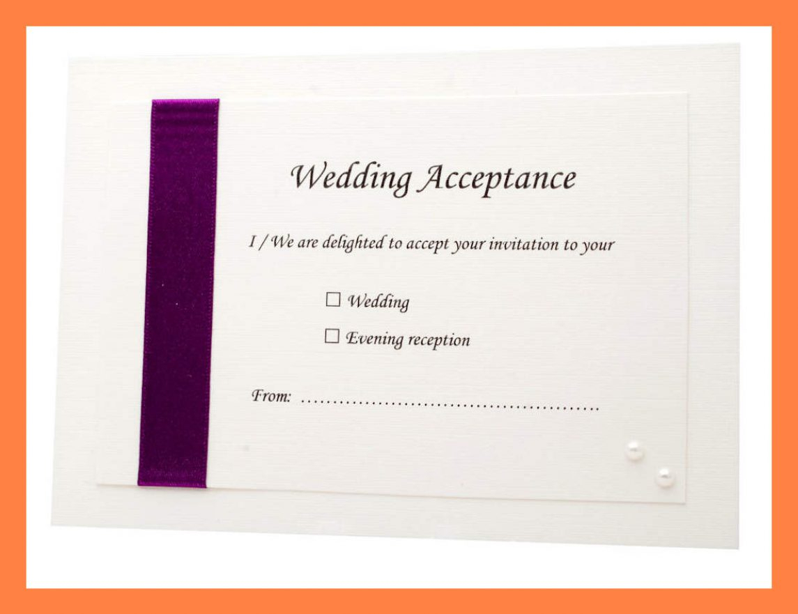 Acceptance Card Template Full Wedding 20 Acceptance 20 Card Pertaining To Acceptance Card Template