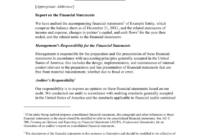 Access Illustrative Financial Statement Report For Hud with Internal Control Audit Report Template