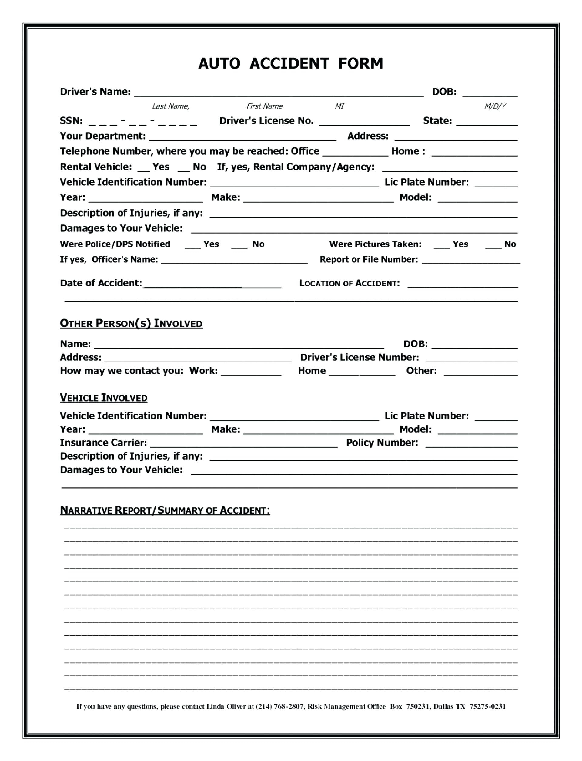 Accident Record Book Template – Tophatsheet.co Pertaining To Motor Vehicle Accident Report Form Template