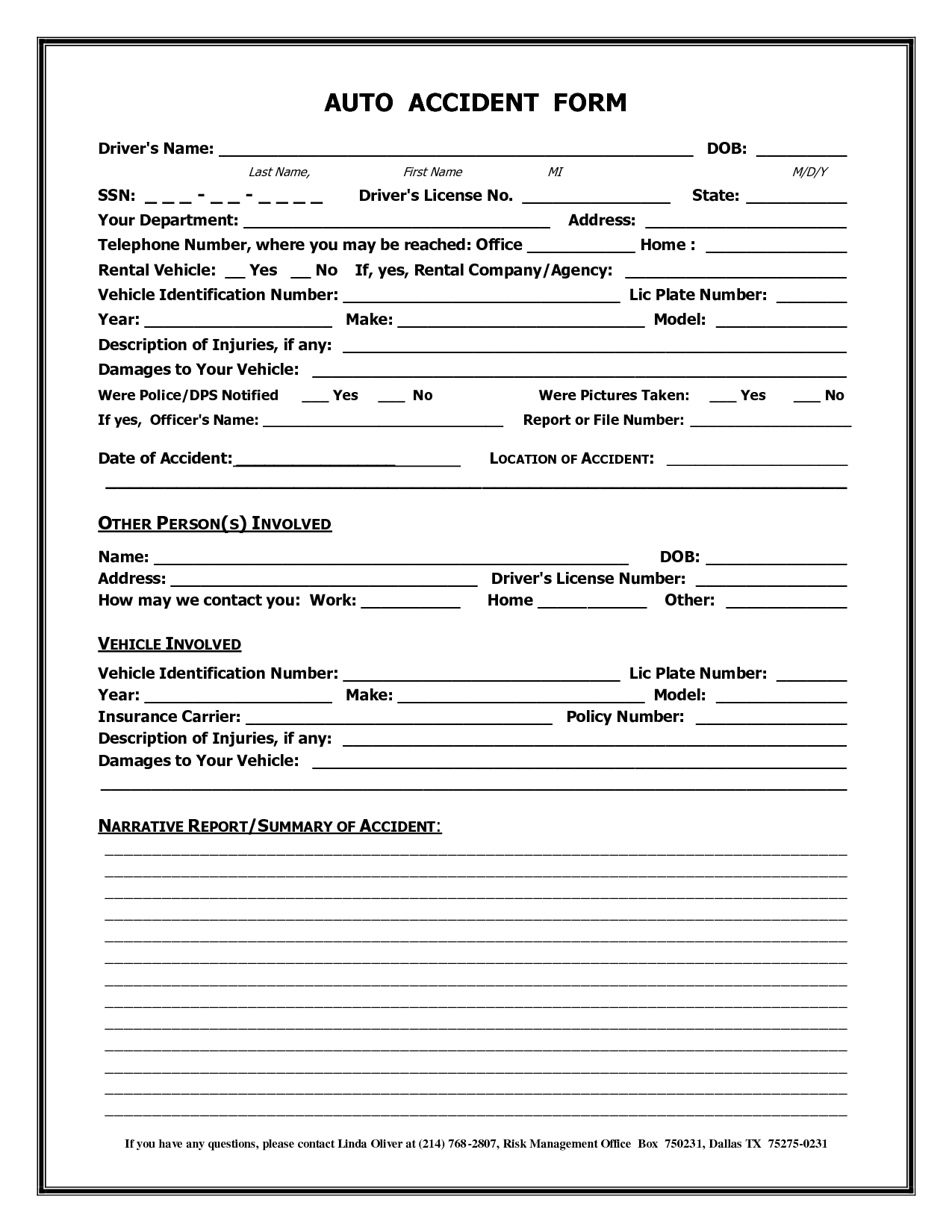 Accident Report Template For Rental Car Insurance How To With Regard To Vehicle Accident Report Form Template