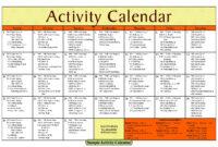 Activity Calendar Template – Printable Week Calendar in Blank Activity Calendar Template