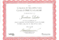 Adoption Certificate Templates Scholarship Template Word with Scholarship Certificate Template Word