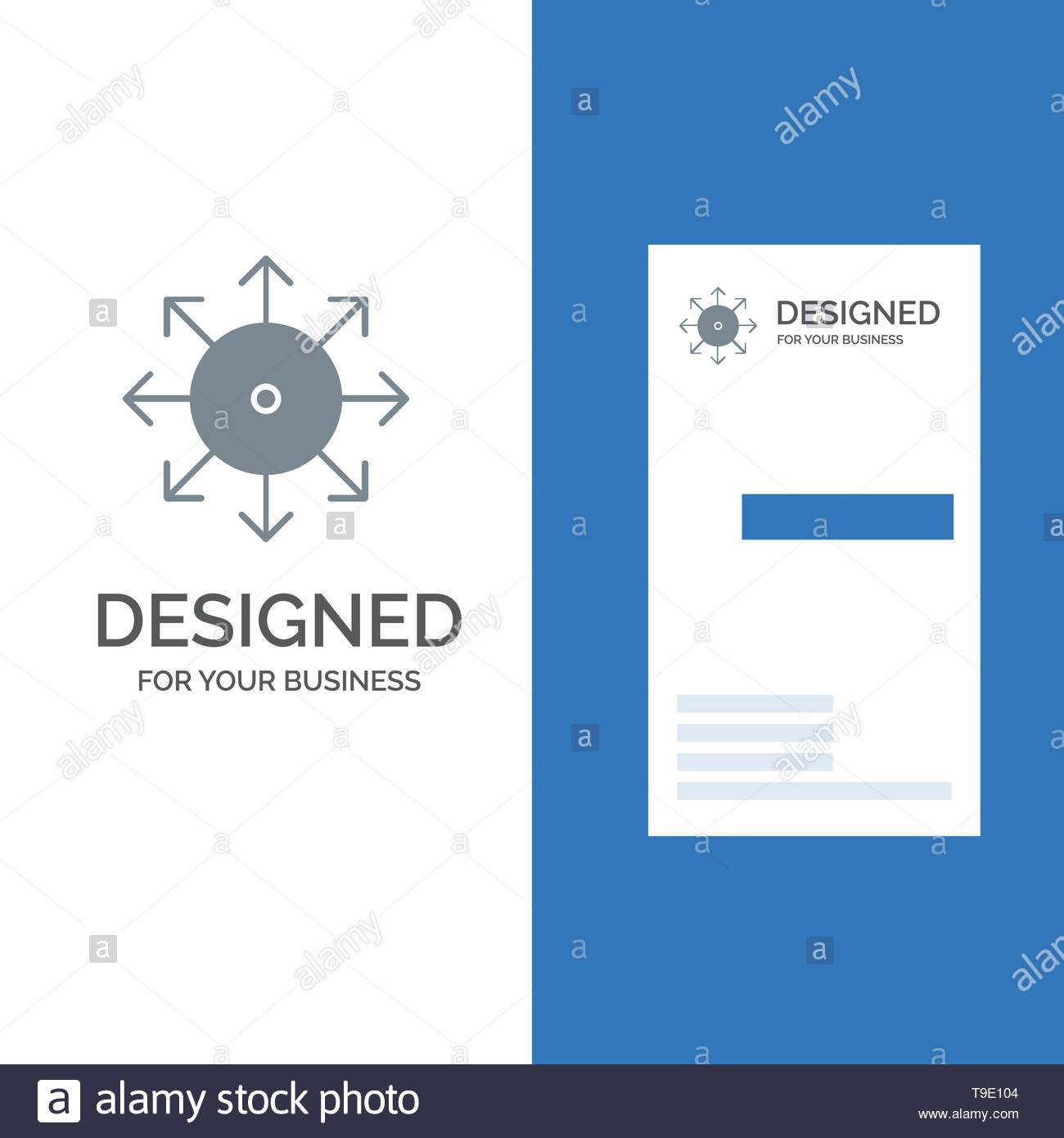 Ads, Advertising, Media, News, Platform Grey Logo Design And For Advertising Card Template