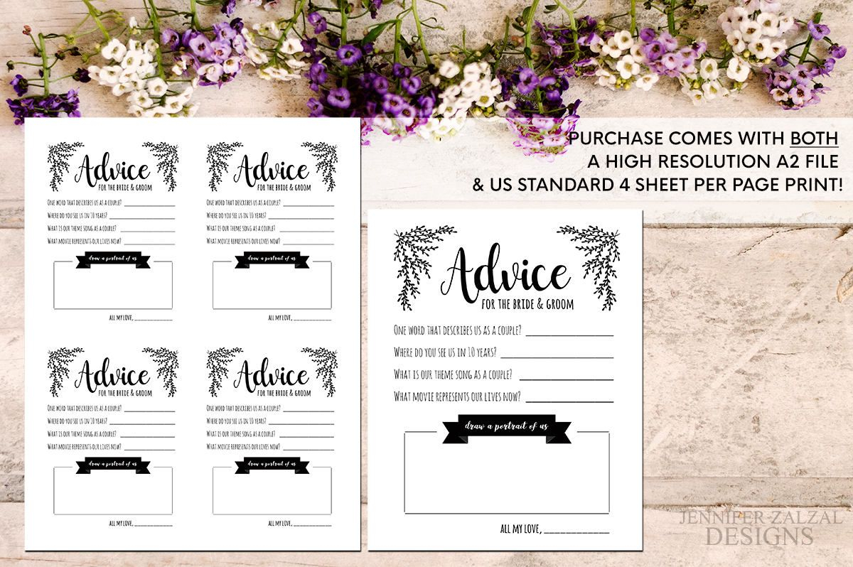 Advice Card Template. Advice For The Newlyweds. Marriage Pertaining To Marriage Advice Cards Templates